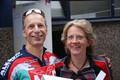 André und Anne. Sie kamen mit dem Rennrad – falsche Veranstaltung?