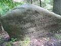 Wichtiger Stein für uns: hier hieß es links abbiegen in den Wald.